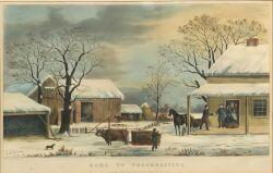 Currier & Ives, publishers (American, 1857-1907)  HOME TO THANKSGIVING.