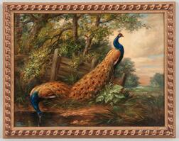 French School, 19th Century      The Peacocks