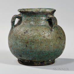 Turquoise Blue-glazed Earthenware Jarlet