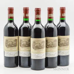 Chateau Lafite Rothschild 1986, 5 bottles