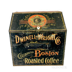 Dwinell-Wright Co. Painted Tin Coffee Bin