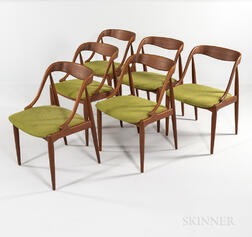 Six Johannes Andersen for Moreddi Teak Dining Chairs