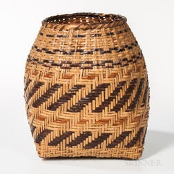 Southeast Polychrome Cane Basket