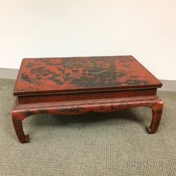 Red-lacquered Kang Table