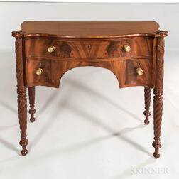 Classical Carved Mahogany and Mahogany Veneer Server