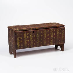 Miniature Paint-decorated Six-board Chest
