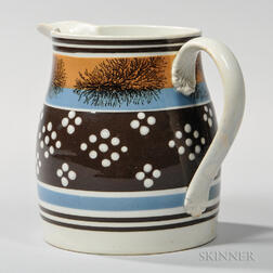 Mocha-decorated Pitcher