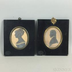 Two Framed Silhouettes
