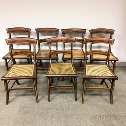 Set of Seven Grain-painted Fancy Chairs
