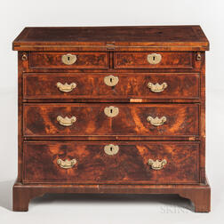 George III Mahogany and Figured Mahogany-veneered Butler's Dressing Chest