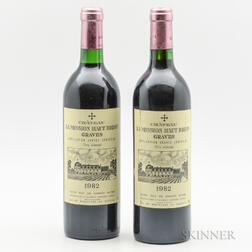 Chateau La Mission Haut Brion 1982, 2 bottles