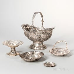 Five Pieces of Continental Silver Tableware