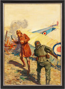 Stockton Mulford (American, 1886-1960)    Combat After the Crash