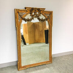 Louis XVI-style Carved and Gilt Pier Mirror