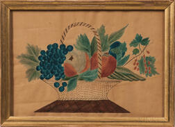 American School, Mid-19th Century      Still Life Basket of Fruit