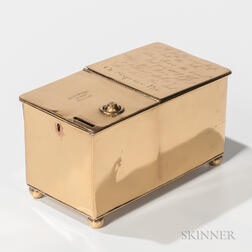 Brass Coin-operated Tobacco Box