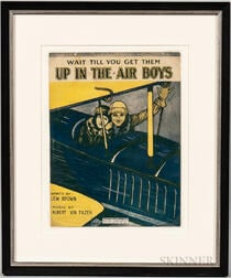 "Printed Sheet Music Cover for ""Wait Till You Get Them Up In The Air Boys,"""