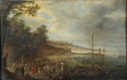 Flemish School, 17th Century Style    Christ Preaching at the Sea of Galilee