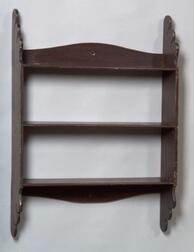Brown-painted Wall Shelf