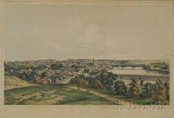 Tappan & Bradford, lithographers (Boston, 19th Century)      VIEW OF HAVERHILL, MASS.  FROM SILVER HILL NOV. 1850.