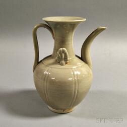 White-glazed Porcelain Ewer