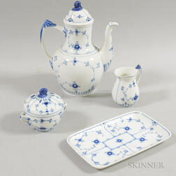 "Bing & Grondahl Porcelain ""Blue Traditional"" Partial Coffee Service"