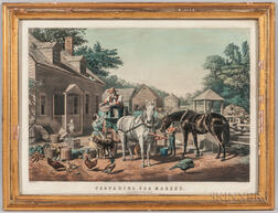 """Preparing for Market"" Lithograph"