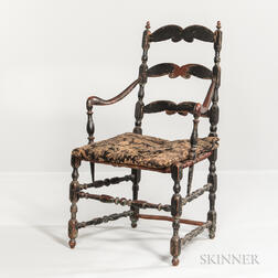 Black-painted Armchair