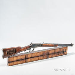 Presentation Winchester Model 1894 Saddle Ring Carbine and Target Board