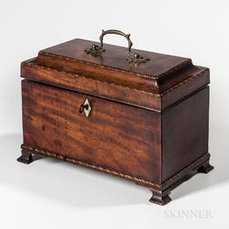 Mahogany Tea Caddy