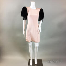 Vintage Carolina Herrera Pink Cocktail Dress