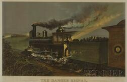 Currier & Ives, publishers (American, 1857-1907)      THE DANGER SIGNAL.
