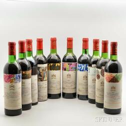A Decade of Chateau Mouton Rothschild, 10 bottles
