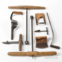 Eight 19th Century Cooper's Tools