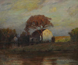 Walter Clark (American, 1848-1917)      House on the Water's Edge