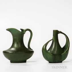Hampshire Pottery Pitcher and Vase