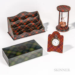 Four Pieces of Tartan Ware