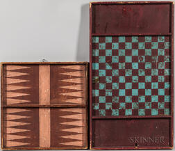 Two Painted Double-side Game Boards