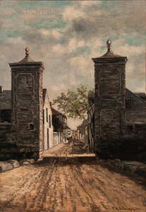 Frank Henry Shapleigh (American, 1842-1906)      The City Gate, St. Augustine, Florida