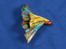 18kt Gold and Enamel Brooch