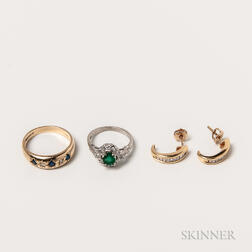 Three Pieces of Gold Jewelry