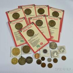 Group of Tokens and Commemoratives Coins
