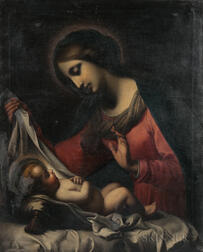 After Carlo Dolci (Italian, 1616-1686)    Madonna of the Veil