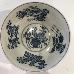 Famille Rose Sgraffito Purple-ground Bowl