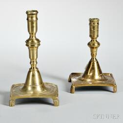 Two Footed Brass Candlesticks