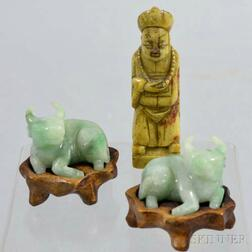 Three Small Carved Stone Items