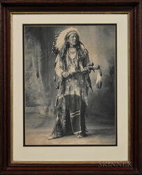 Framed Photograph of Black Coyote