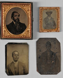 Four Tintypes of African American Men