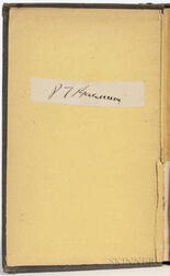 Barnum, Phineas T. (1810-1891) Life of P.T. Barnum, Written by Himself  , with Clipped Signature.