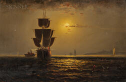 Elisha Taylor Baker (American, 1827-1890)      Off Huntington Light